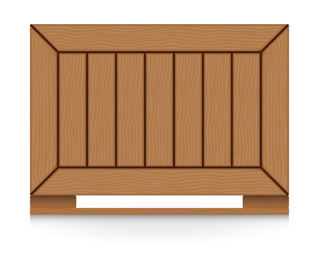 ship parcel: Illustration of wood crate isolated on white background.