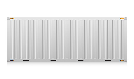 warehouse equipment: Illustration of cargo container isolated on white background.