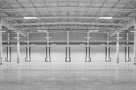 warehouse interior: Empty factory