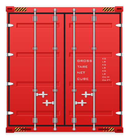 container freight: Illustration of cargo container isolated on white background.