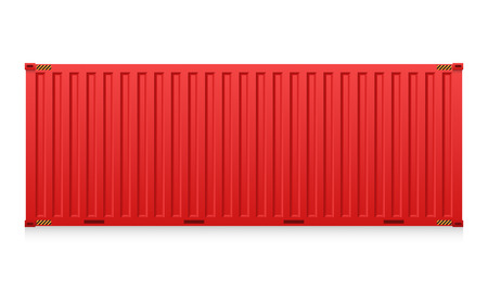 container port: Illustration of cargo container isolated on white background.