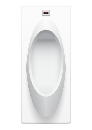 urinal: Illustration of urinal on white background. Illustration