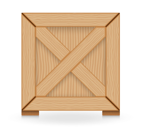 crates: Illustration of wood crate isolated on white background.