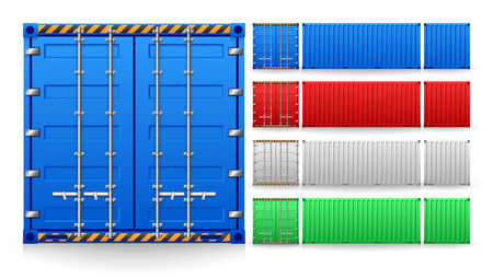 Illustratie van lading container op een witte achtergrond.