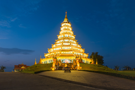 chinese temple: Wat Hyuaplakang in Chiang rai province, Thailand. Stock Photo