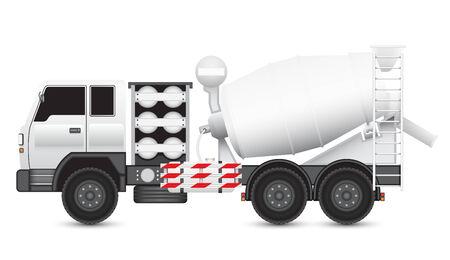 ngv: Illustration of Concrete truck isolated on white background.