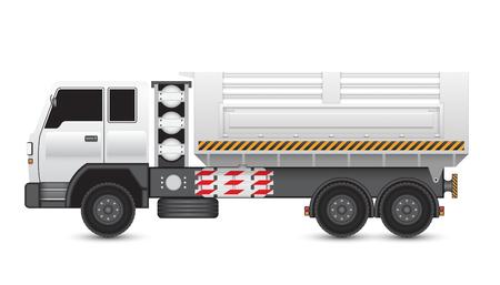 ngv: Illustration of tipper trucks isolated on white background. Illustration