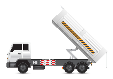 compression: Illustration of tipper trucks isolated on white background. Illustration
