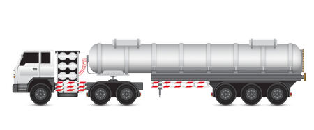 cistern: Illustration of heavy truck and chemical tank. Illustration