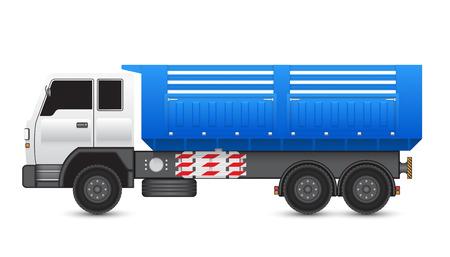 Illustration of tipper trucks isolated on white background. Illustration