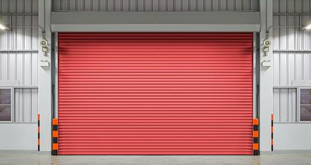 shutter: Shutter door or rolling door, night scene.