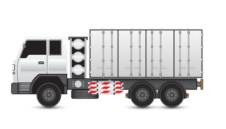 lpg: Illustration of truck and container on white background. Illustration