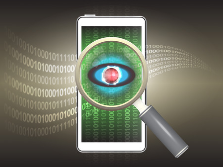 detect: Magnifier and virus data in phone