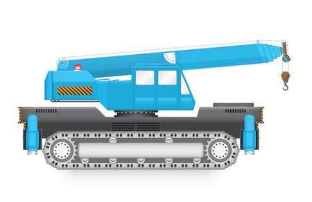 hoisting: Illustration of mobile crane isolated on white background.