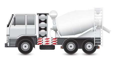 cement mixer: Illustration of Concrete truck isolated on white background.