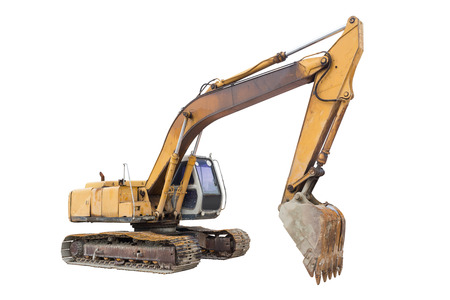back hoe: Backhoe or excavator machine