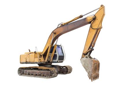 hoe: Backhoe or excavator machine