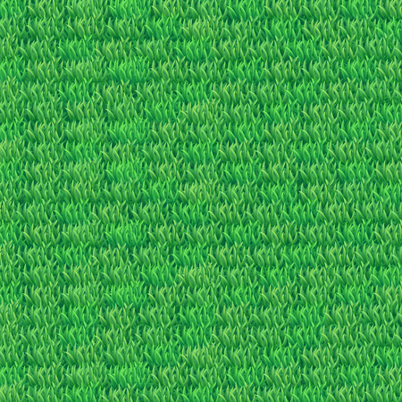 Illustration of realistic green grass texture, square size.