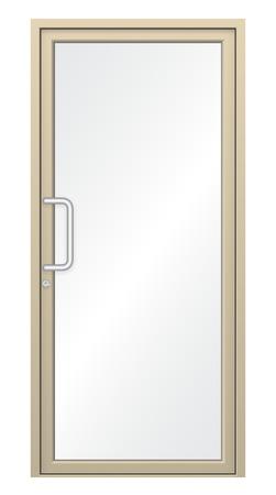 door leaf: Illustration of aluminium door isolated on white background.