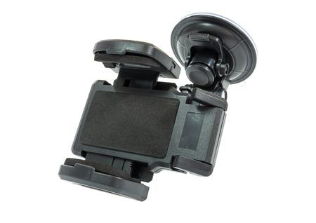 strangulation: Car accessory holder isolated on white Stock Photo