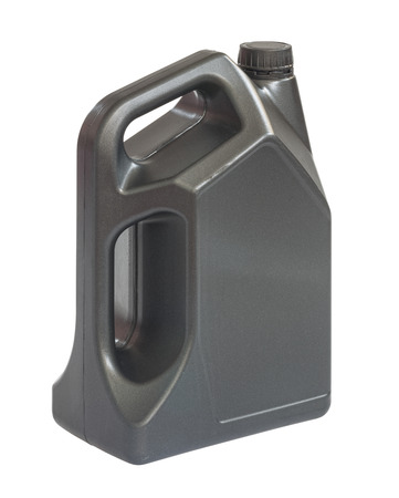 lubricant: Gallon of lubricant oil, clipping path include in file. Stock Photo