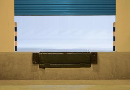 leveler: Ramp or dock leveller and shutter door.