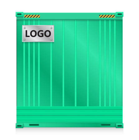 Illustration of cargo container isolated on white background. Vector