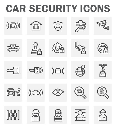 protect icon: Car security icons.