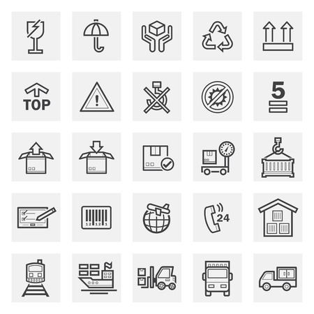 Logistics icons sets.