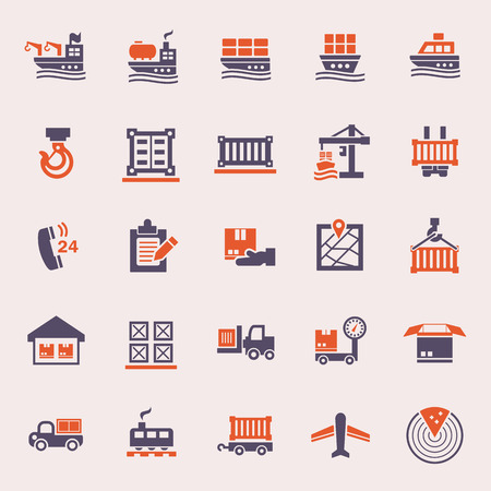 global logistics: Logistics icons sets.