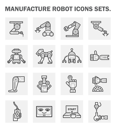 robot hand: Robot icon sets.
