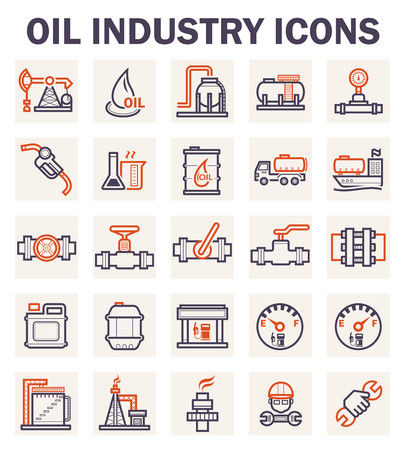 Oil industry icons sets.