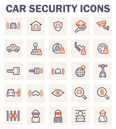 car security: Car security icons.