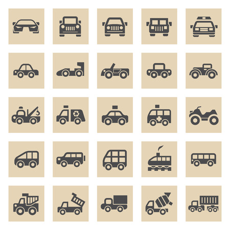 junks: Vehicle icons sets.