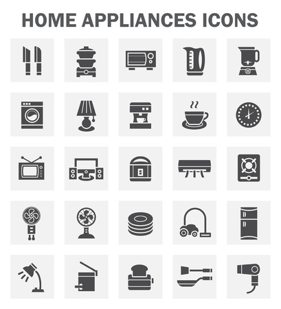 appliance: Home appliance icons sets.