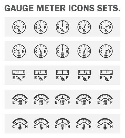 control tools: Gauge meter icons sets.