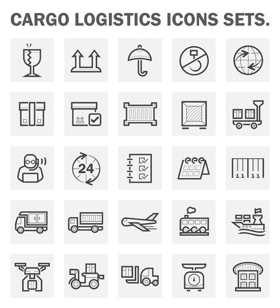 global logistics: Logistics icons sets.