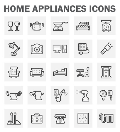 water filter: Home appliance icon set.