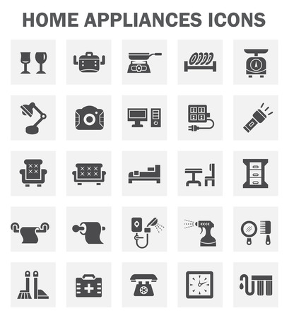 home appliance: Home appliance icon set.