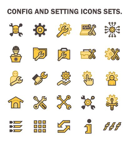 config: Config and setting icons sets.
