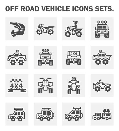 オフ道路車両アイコンを設定します。