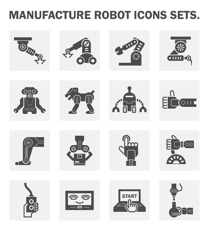 robot: Robot icon sets.