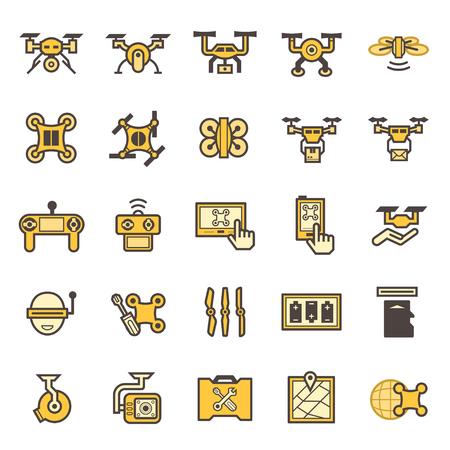 Toy aircraft icons sets.  イラスト・ベクター素材