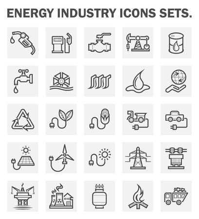 industry: Energy industry icons sets. Illustration