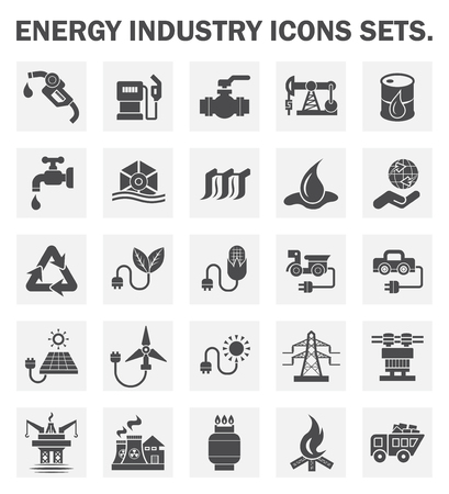 water icon: Energy industry icons sets. Illustration