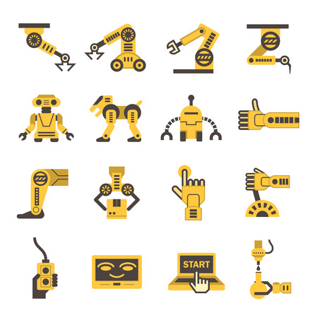 Robot icon sets.