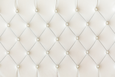 padded: Cushion pattern background, white color. Stock Photo