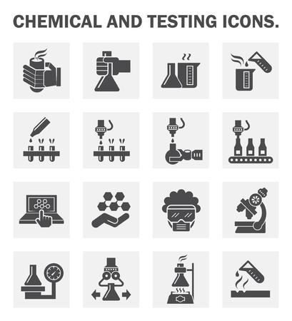 Chimica e le icone di test set. Archivio Fotografico - 46040927