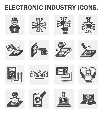 electricidad industrial: Iconos de la industria Electr�nica.