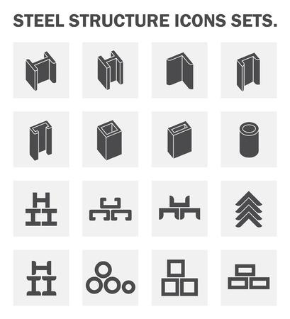 Struttura in acciaio icone set. Archivio Fotografico - 46288251